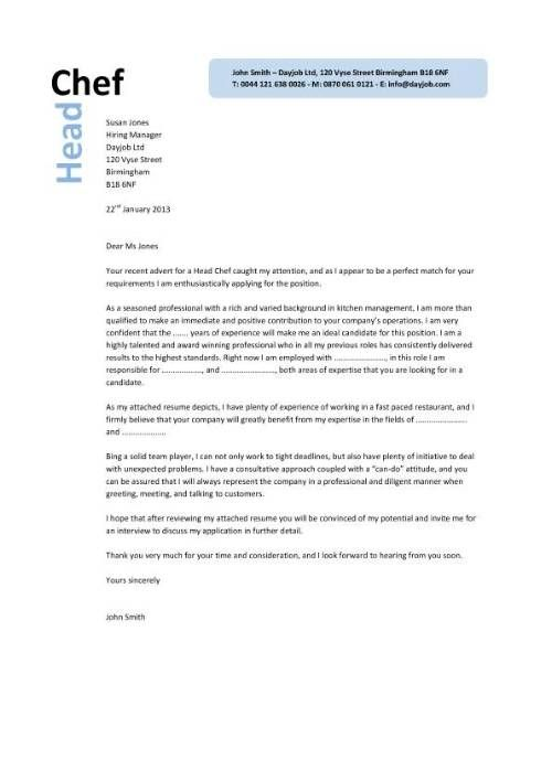 Sample Executive Chef Cover Letter Http Www Resumecareer Info Sample Executive Chef Cover Letter 3