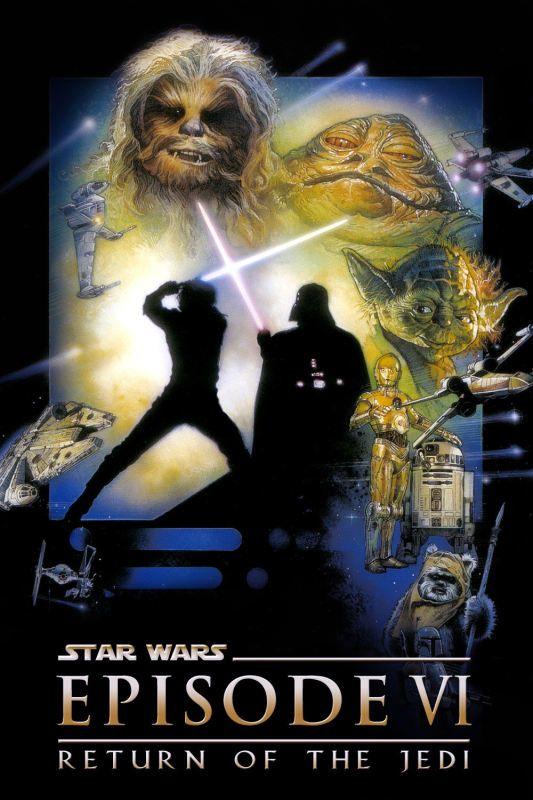 Star Wars Episode Vi Return Of The Jedi Poster Afiche De Pelicula Pelicula De Star Wars Dias De Cine