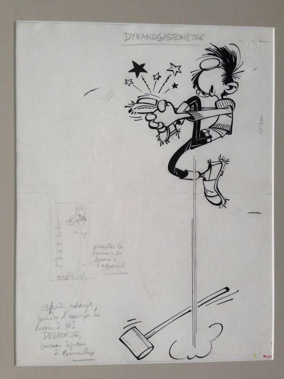 """Dans le coin inférieur gauche, André Franquin indique au crayon:  """"Après usage, prière d'envoyer ce dessin à Mr DELPORTE, bureau Spirou à Bruxelles""""  ... mais l'a-t-il publié ? Je n'en ai pas trouvé trace.   Appel à l'aide de la communauté des fan..."""