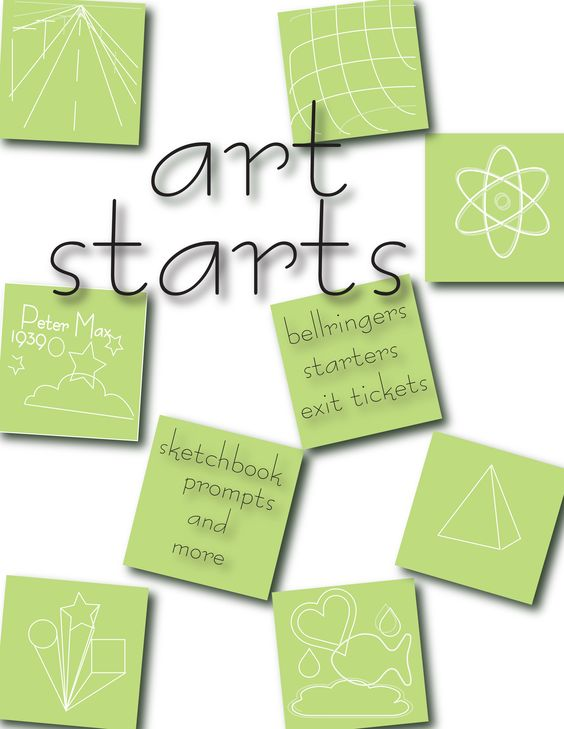 Ready to reproduce art activities for the busy art teacher.  Bell-ringers and more! www.witzbitz.com