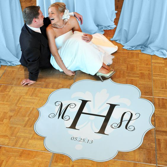 Modern Love Wedding Dance Floor Decals -This is perfect for our 1st dance