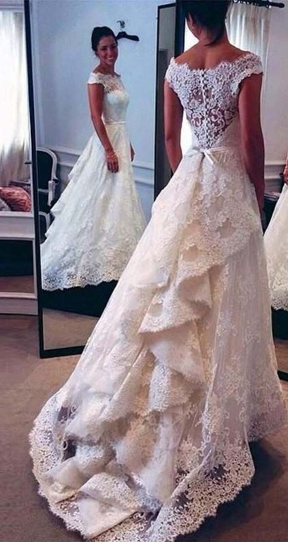 2016 Vintage Lace Wedding Dress