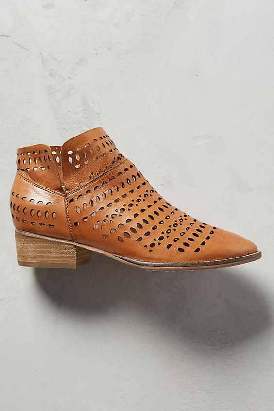 Slide View: 2: Tame Laser-Cut Ankle Boots