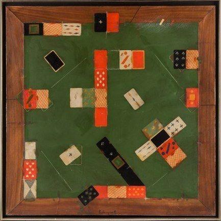 """Still Life with Cards"" by Vladimir Nemukhin (1989)"