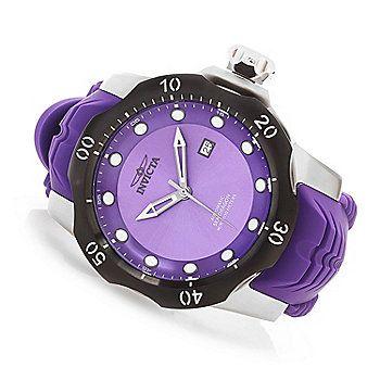 Invicta 52mm Venom Sea Dragon Automatic Silicone Strap Watch w/ One-Slot Dive Case