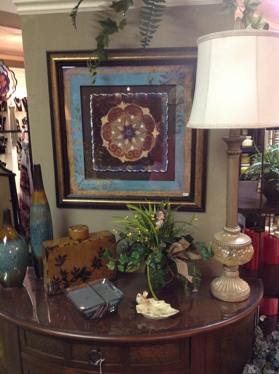 Blues and brown at something special. Decorating and floral arrangement ideas.