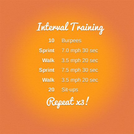 Interval Training, click for more workout ideas!