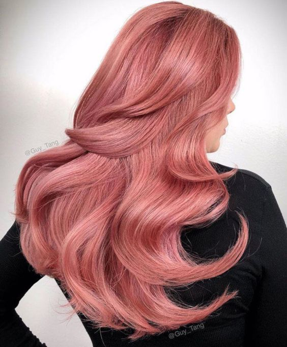 Bold-Hair-Colors-to-Try-in-2019 pastel pink hair