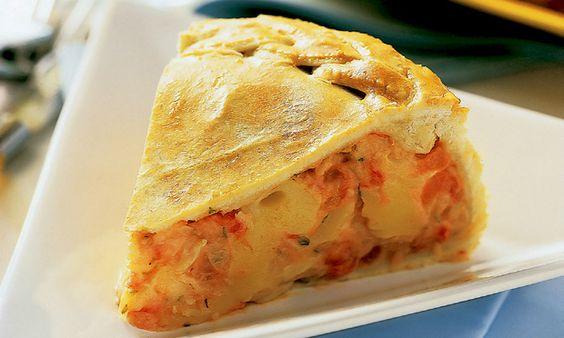 Torta mineira com queijo