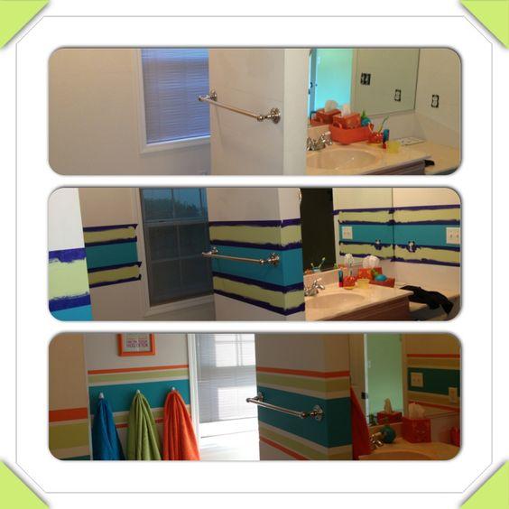 Kid, Kid Bathrooms And Stripes
