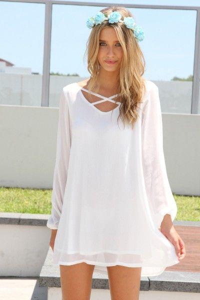 white flowy hippie gypsy bohemian dress - Graduation - Pinterest ...
