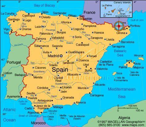 Mapas De Espanha Spain Travel Map Of Spain Spain Portugal