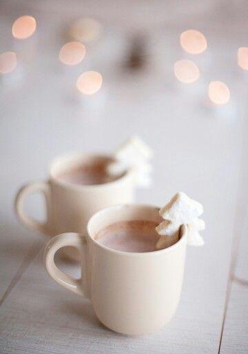 Hot chocolate and tree marshmallows. #SparkleSeason