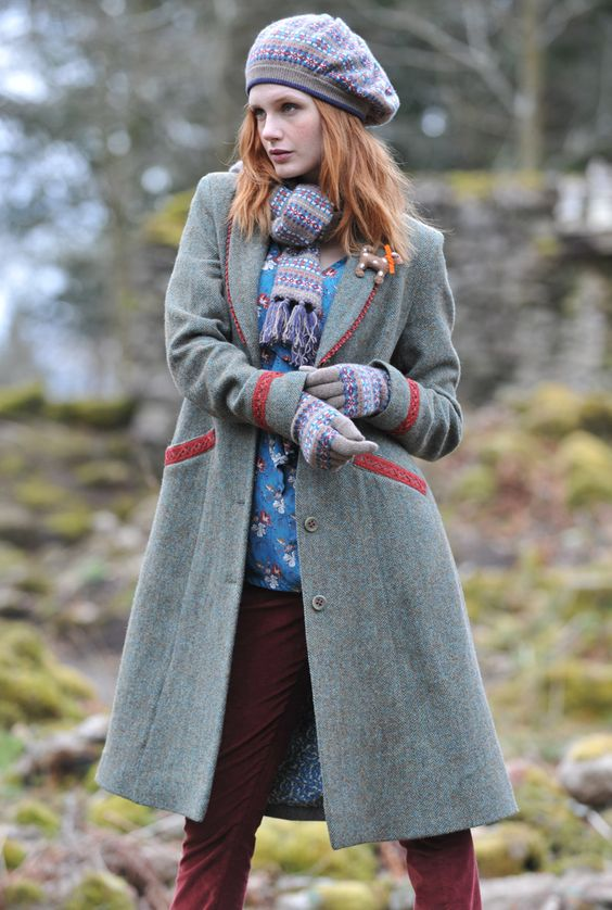 Long Tweed Coat - Ladies Tweed Coat | Brora | Tweed and Yarn ...