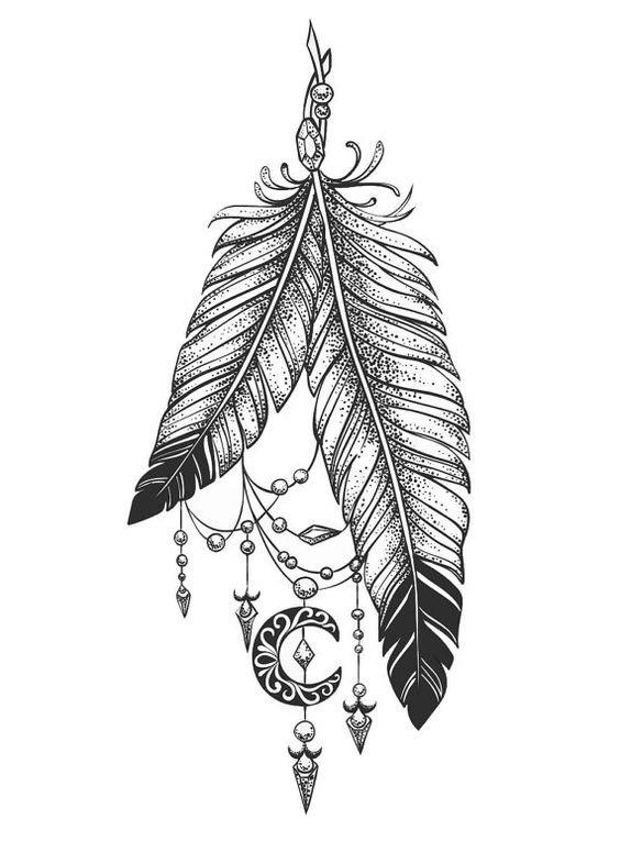 Sets feathers temporary tattoos by TattooLifeStyle on Etsy