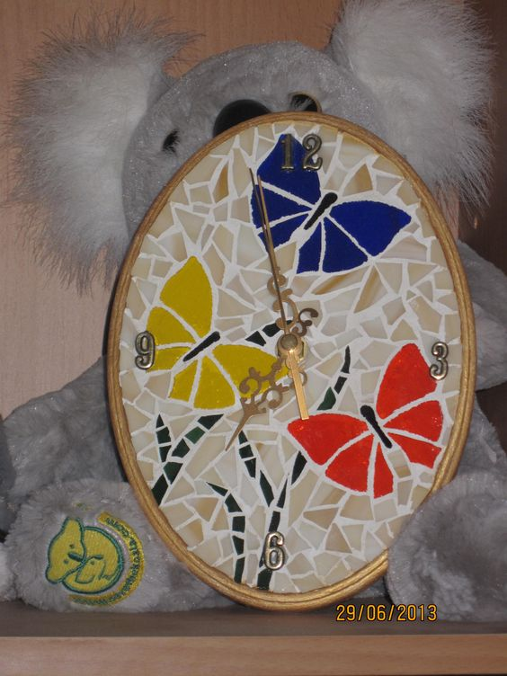 reloj hermoso Small Mosaic Clock