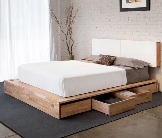 Mash Studios LAX Bed with Storage Low beds, Bed in and Wooden blocks