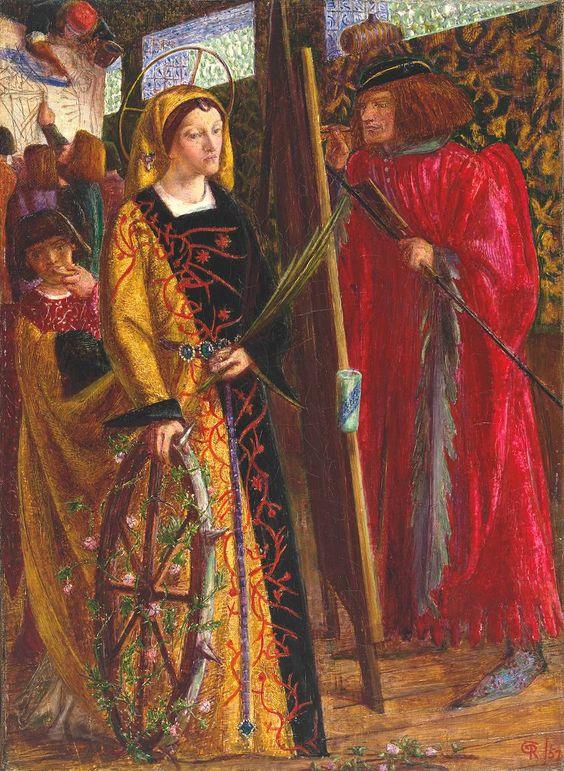 Dante Gabriel Rossetti : St Catherine, 1857
