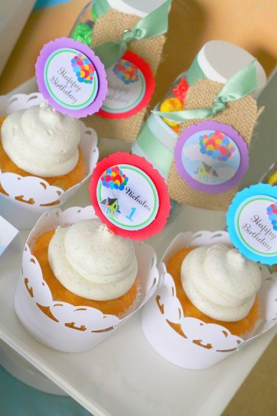 Disney's Up themed birthday party via Kara's Party Ideas KarasPartyIdeas.com Printables, cakes, invitation, cupcakes, desserts, and MORE! #disneysup #genderneutralparty #karaspartyideas (13)