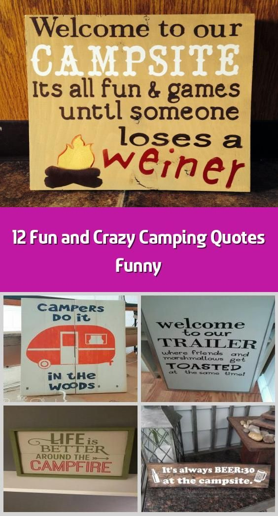 12 Fun And Crazy Camping Quotes Funny The Length Of Your Stay Will Choose The Success Of Your Vacation S In 2020 Camping Quotes Funny Funny Quotes Camping Quotes