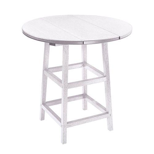 C R Plastic Products Generation White 32 Inch Round Table Kit