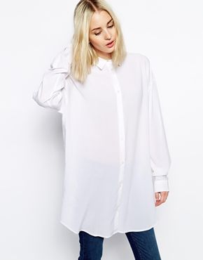 Oversized White Shirt Womens