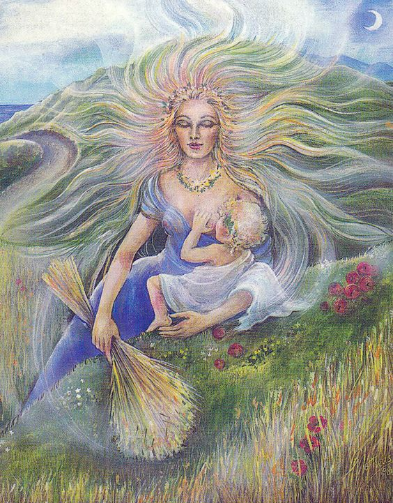 Demeter in Goddesses of the New Light by Pamela Matthews - Demeter. Tags: demeter, ceres, olympians,