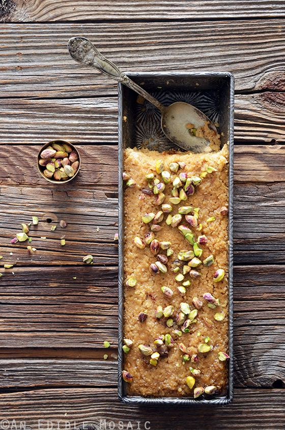 Middle Eastern Tahini, Date, and Cardamom Bulgur Wheat Breakfast Bake | An Edible Mosaic