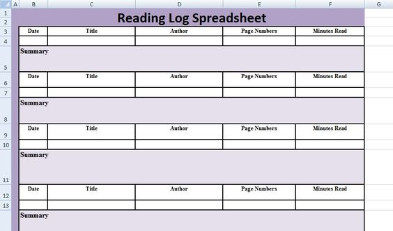 Reading Log Spreadsheet Template u2013 Excel Spreadsheet Templates - office inventory spreadsheet
