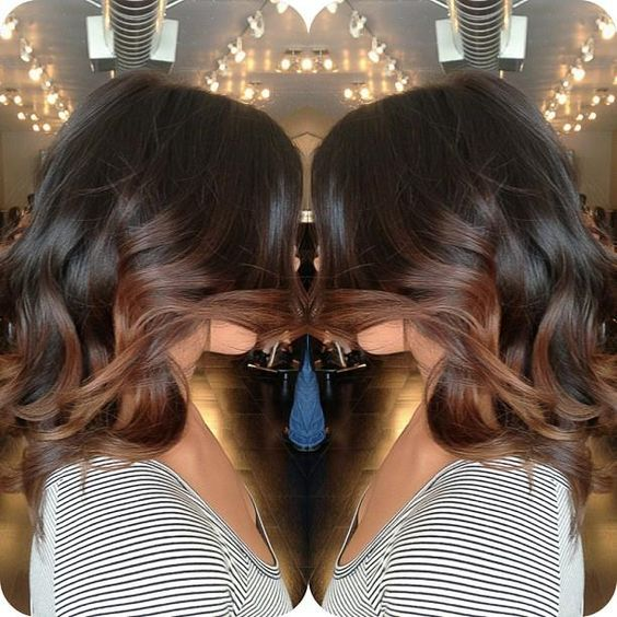 Incredible Balayage Black And Brown And Brown Hairstyles On Pinterest Short Hairstyles Gunalazisus