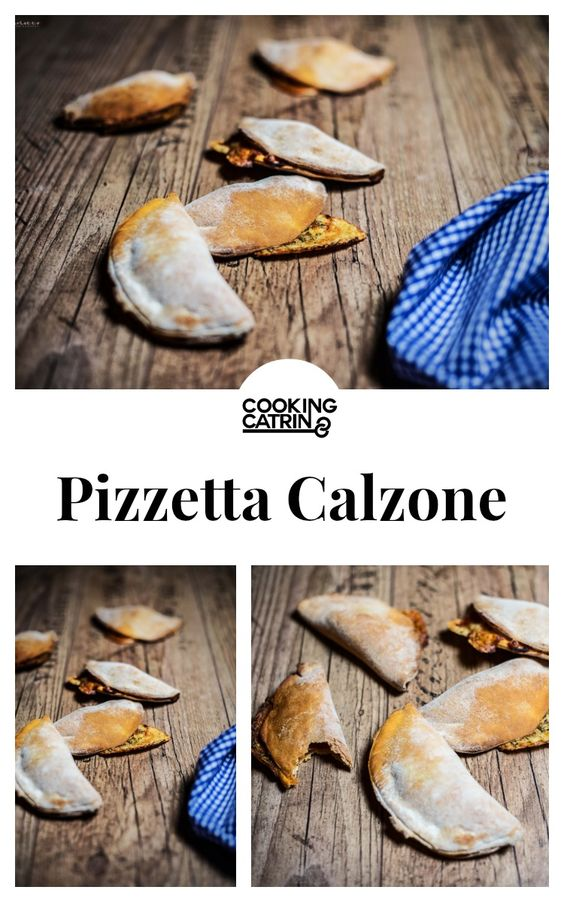 Rezept Calzone, Pizza Calzone, Rezept Mini Pizza, Partyrezept, vegetarische Pizza. Einfaches Pizzarezept. Minicalzone.