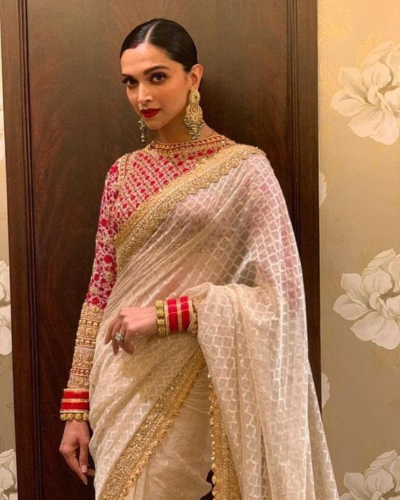 The Real Anushka Sharma Deepika Padukone Lehenga Cost Frugal2fab Saree Look Stylish Sarees Saree Trends