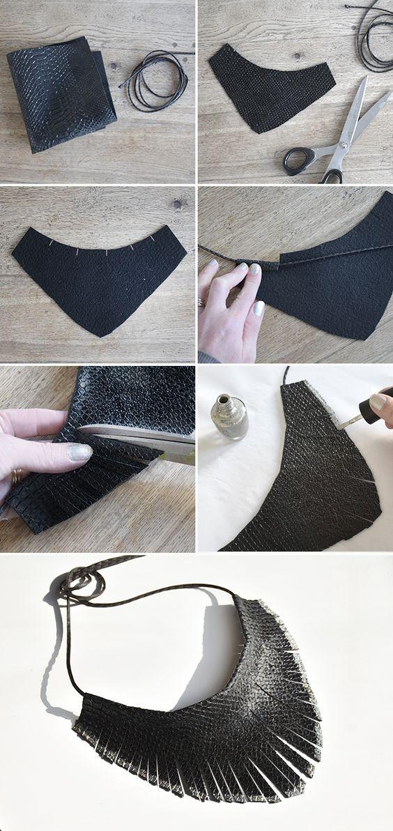 DIY Collier plastron Plus