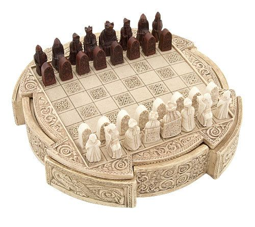 Viking chess game the norseamerica miniature viking isle of lewis chess set is a high quality - Lewis chessmen set ...