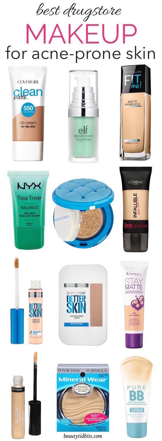 Best Drugstore Makeup For AcneProne Skin