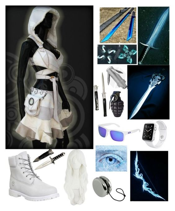 """OC Winter Drewsome aka Frostbite"" by winternightfrostbite ❤ liked on Polyvore featuring Timberland, Oakley and Apple"