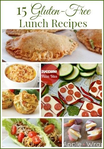 Ideas for gluten free lunches to pack for kids.