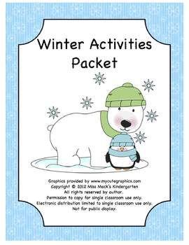 Winter homework packet letter