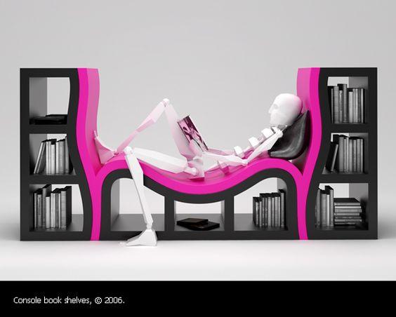 Funky Fun Design Bookcases Galore