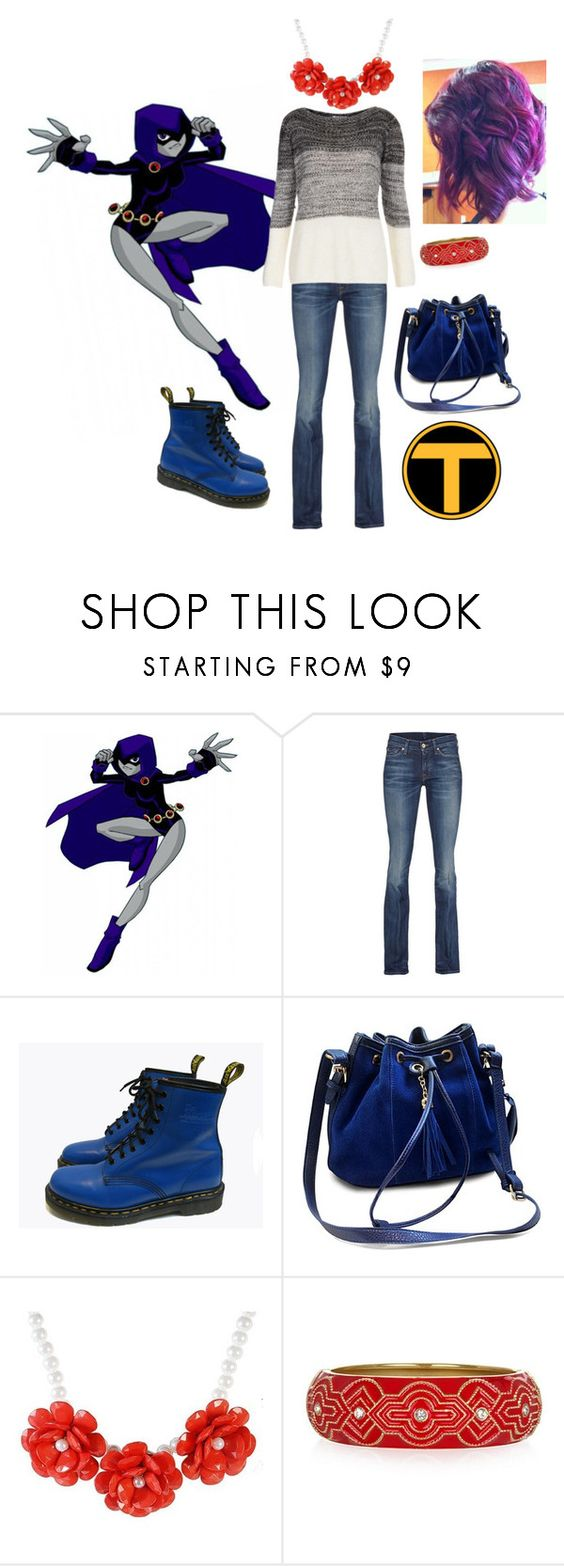 """Casual Raven"" by raventitan ❤ liked on Polyvore featuring 7 For All Mankind, Dr. Martens, women's clothing, women, female, woman, misses and juniors"