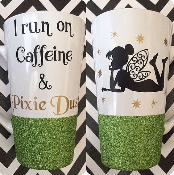 If you love Tinkerbell, then this is the mug for you! It is a 16 ounce coffee mug dipped in glitter that has been sealed. Strong, high quality: