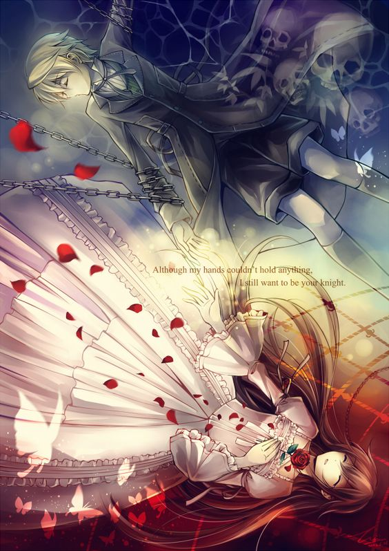 Pandora Hearts, OzxAlice.  I know not a lot of people like this couple, but they really are perfect. :)