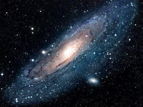 Galaxie d'Andromède. Il s'agit de la galaxie la plus proche de la Voie lactée.