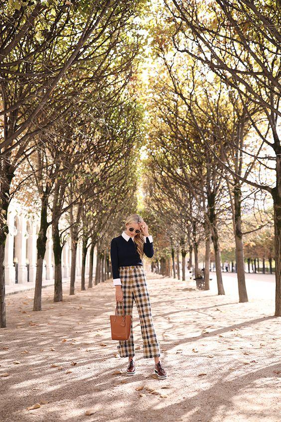 Atlantic Pacific Blog, Blair Eadie // Plaid in Paris