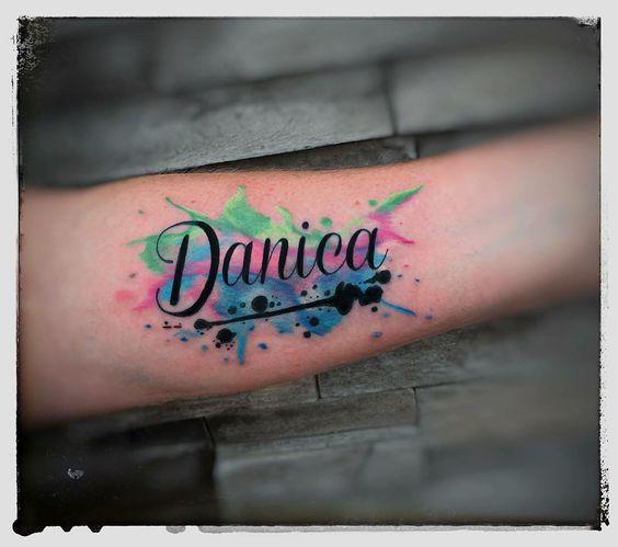 Tatuagens Aquarela De 100 Fotos Tatuagens Ideias Word Tattoos Tattoos Tattoos With Kids Names