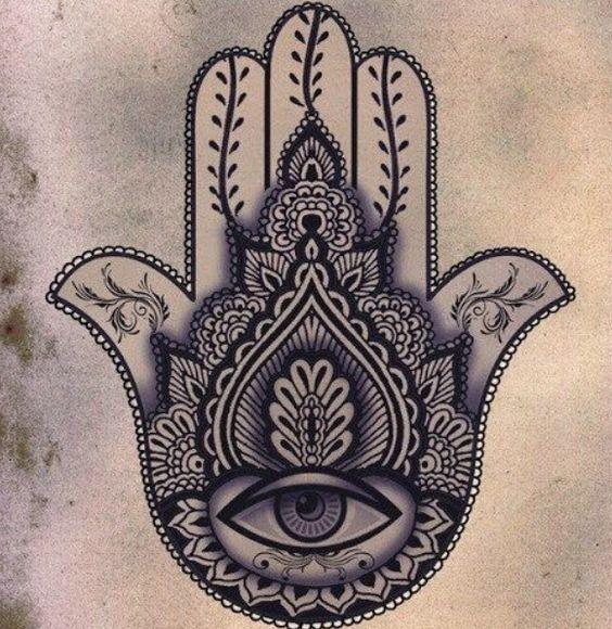 Main de fatma tattoo khamsa pinterest tatouages - Main de fatma dessin ...