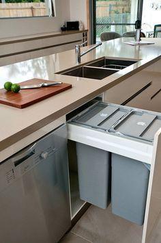 ゴミ箱 キッチン 組み込み 収納 コーディネート スッキリ 引き出し