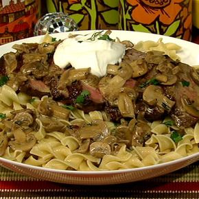 Clinton Kelly's Beef Stroganoff: A dish that has it all -- meat, pasta and great sauce!