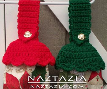 Crochet Towel Toppers - Crocheted by Donna Wolfe from Naztazia                                                                                                                                                      More