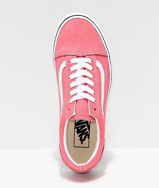 Pink vans old skool, Pink vans, Skate shoes
